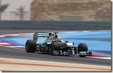 Rosberg nelle prove libere del gran premio del Bahrain 2012