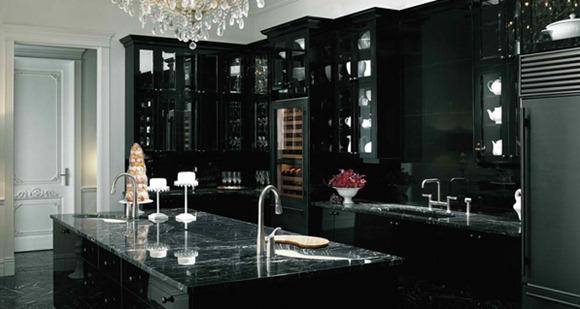 Diseños de cocinas negras