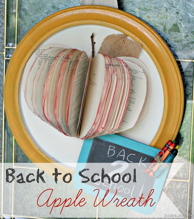 home.made. Back to School Apple Wreath