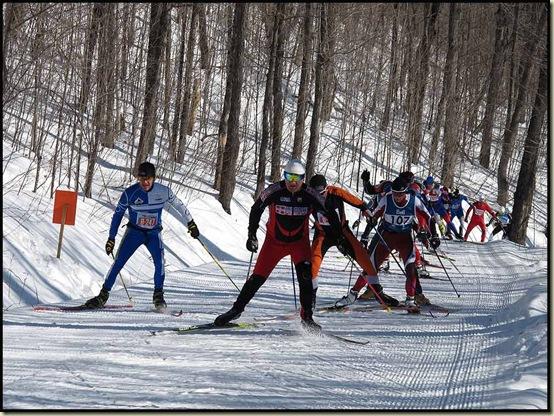 Elite Skate-skiers climb Penguin Hill - 19/2/12