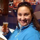 Natalie Enjoying a Speights Gluten Free Cider - Dunedin, New Zealand