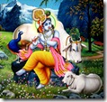 Lord Krishna and cows