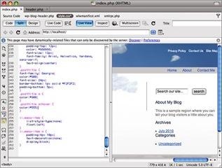 Classe CSS pour le menu afin de personnaliser un thème Wordpress avec Dreamweaver