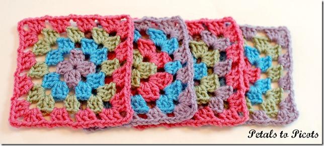 Granny Square Crochet Pattern | www.petalstopicots.com | #crochet #pattern #granny #square