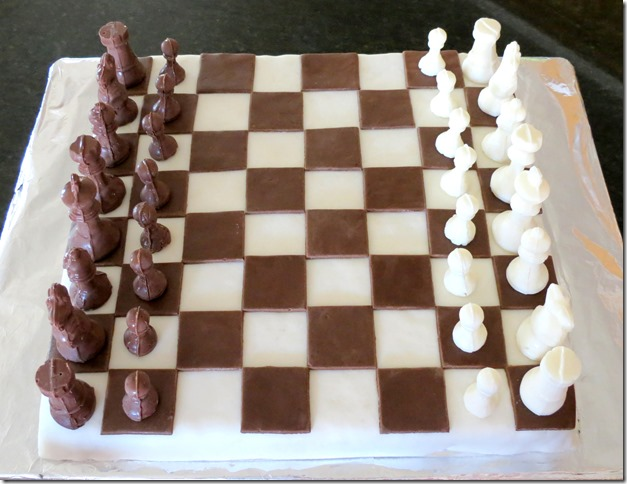 Chess Game Cake (Rice Krispies Treats) 9-6-13