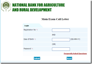NABARD Call Letter