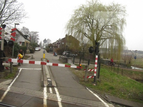 Netherlands bicycle train crossing