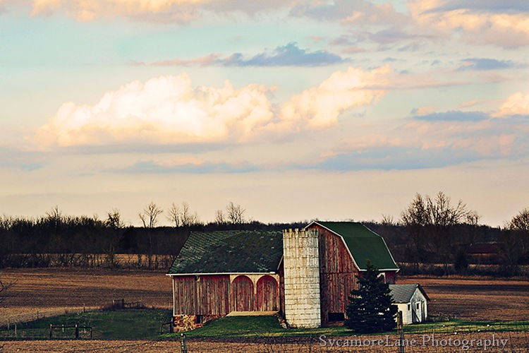barn and clouds-w