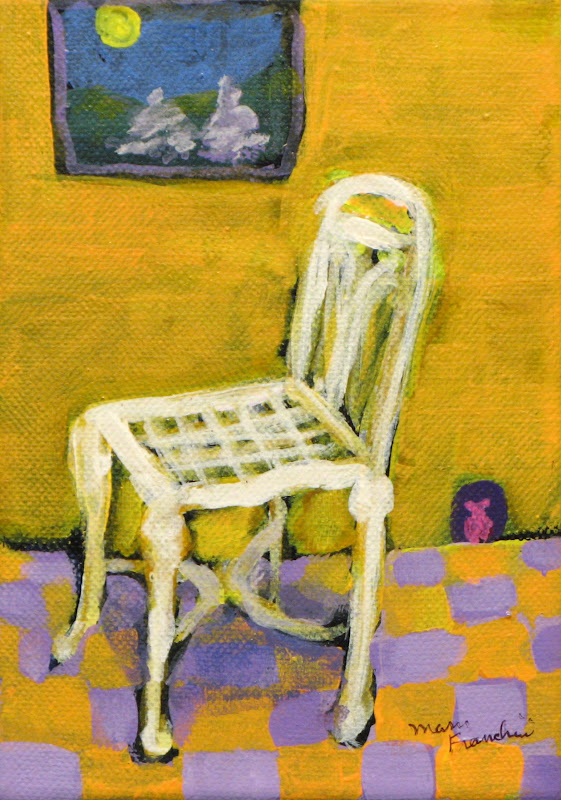 """Warm Chair"" Acrylic SOLD"