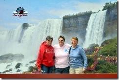 Pam, Gin and Syl at Niagara Falls Cave of the Winds