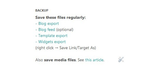 Bloggerr backup automatic plugin