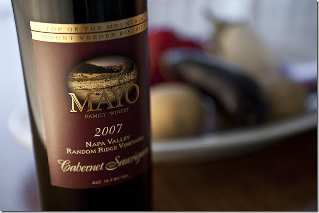 2007 Mayo Family Winery Napa Valley Random Ridge Vineyard Cabernet Sauvignon