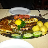 greek dinner on the Danforth in Scarborough, Ontario, Canada