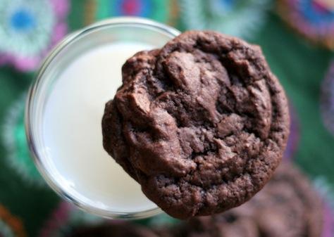 chocolate buttermilk cookies 1