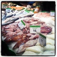 calamari at la Boqueria