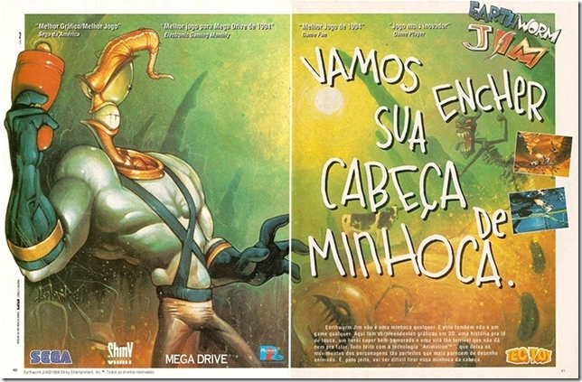 Propagando Earth worm jim