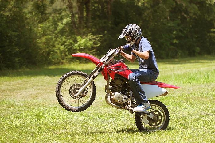 dirt bike wheelie alec and his dirt bike