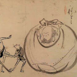 Hakuin, Hotei Watching Mouse Sumo