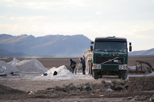 Nothing spells Bolivia quite like loading a tractor trailer with salt using a shovel.