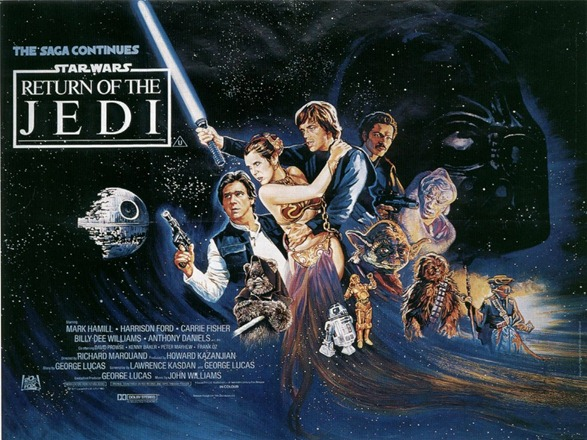 return of the jedi original poster