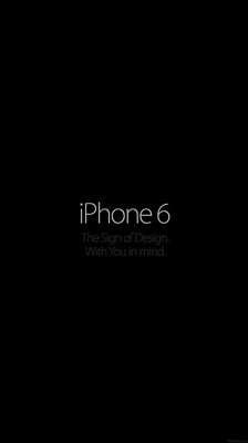 Iphone6 logo dark wallpaper