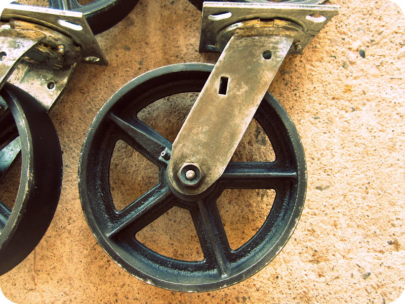 8″ Casters - Antique Casters Vintage Industrial Furniture