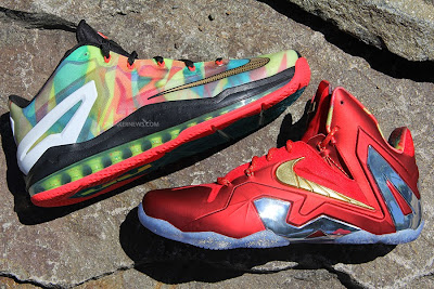 nike lebron 11 low pe championship pack 2 04 LBJ Wears LeBron 11 Low Championship Sample at His Skills Academy