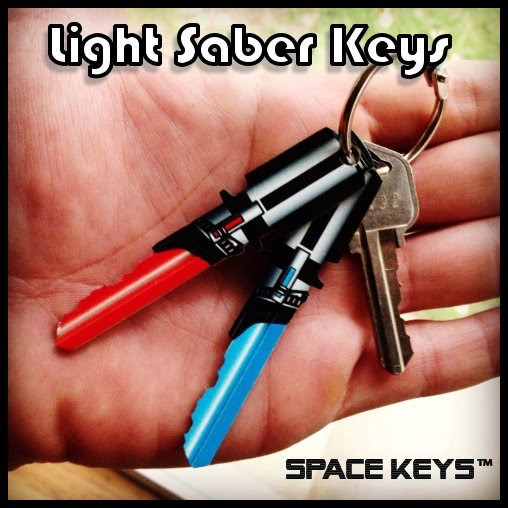 Lightsaber Keys from Guitar Shaped Keys