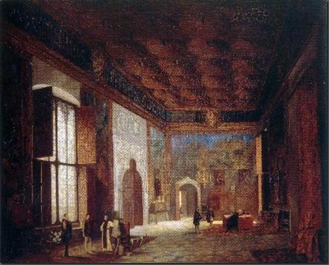 interior palacio mosen sorell del siglo XV derribado  en 1882