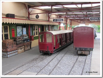 Cleethorpes miniature railway. Different style passenger rolling stock.