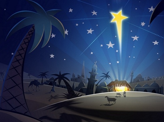 Jesus-Born-Christmas-Christian-Art-Wallpaper