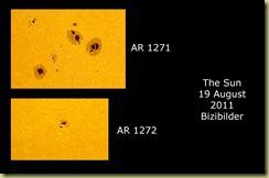 19 August 2011 Sunspot close-ups