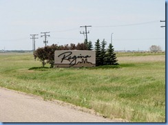 8486 Saskatchewan Trans-Canada Highway 1 Regina - sign