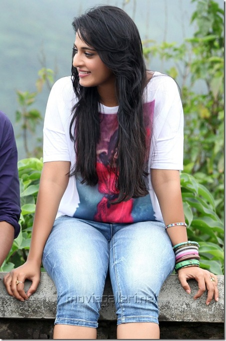 Actress Anushka Shetty in Mirchi Movie Stills