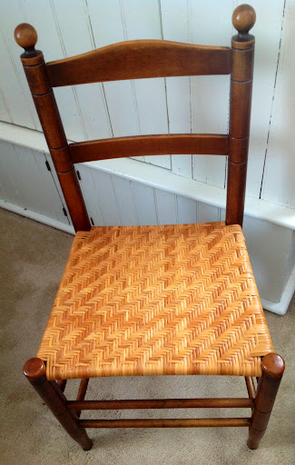 ... Mottville Chair With Herring Bone Style Woven Seat ...