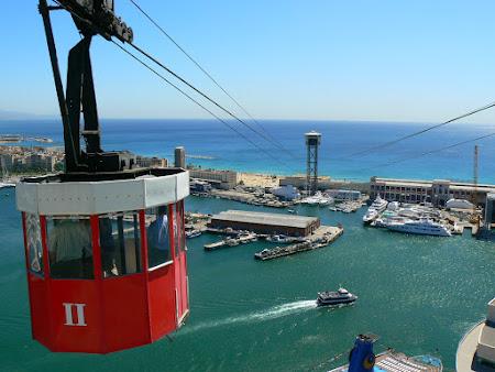 Atractii turistice Spania: telecabina din Barcelona