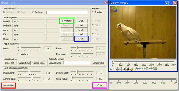DeLogo 1.3.2 per eliminare logo da video