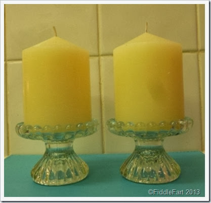 Charity shop candle sticks