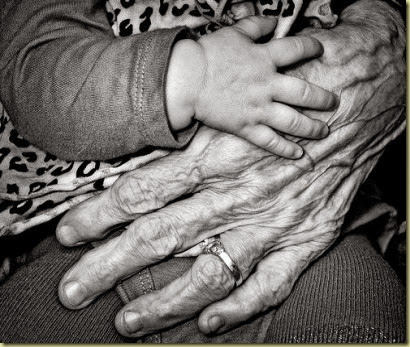 OLD AND YOUND HANDS