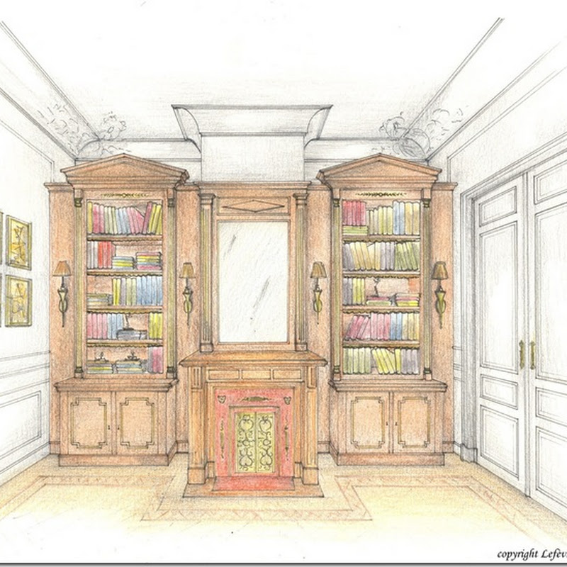 A Regency styled library