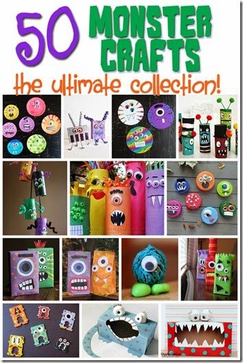 50 Fun & Silly Monster Crafts for Kids #preschool #craftsforkids #monsters