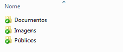 Pastas do SkyDrive