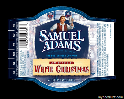 heres a new limited release seasonal brew from our pal jim koch samuel adams called white christmas this 12oz bottle label carries the new design were - White Christmas Sam Adams