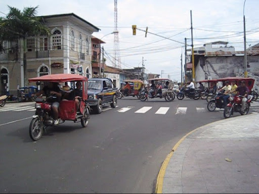 Motorcycle madness on the streets of Iquitos