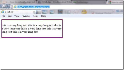 HTML Tip,Div,Vertical Align
