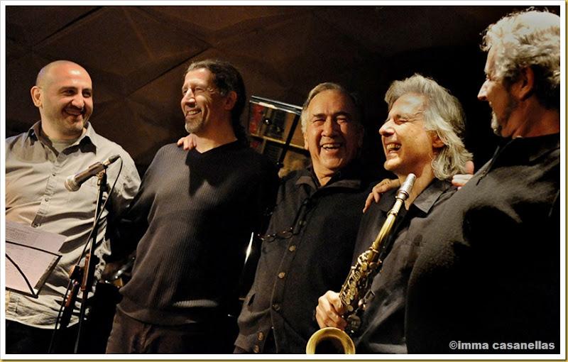 Xavier Monge, Rai Ferrer, Joan Margarit, Perico Sambeat i Pere Rovira, Barcelona 2013