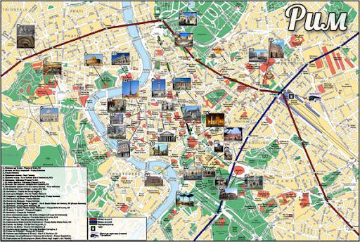 Карта на Рим изработена от мен