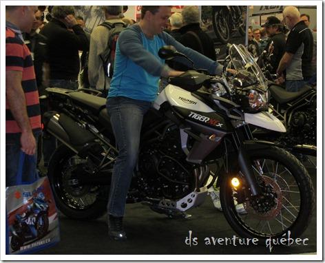 Salon Moto Montreal 2015 - Triumph 800XCx 2015
