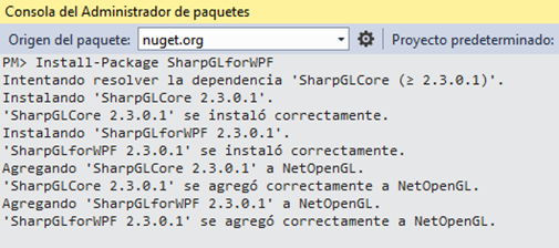 Instalar SharpGL