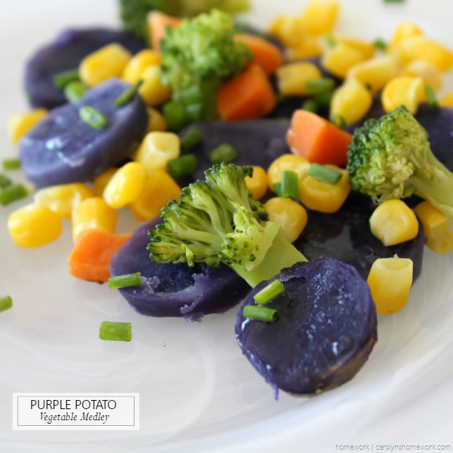 Purple Potato Vegetable Medley via homework - carolynshomework (7)